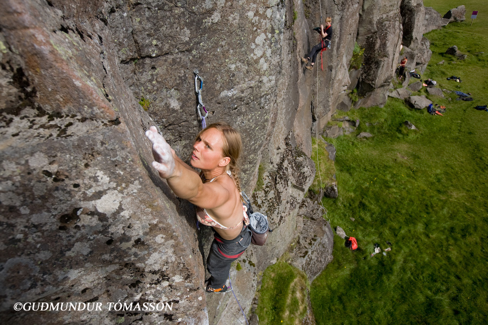 Hnappavellir is the biggest rock climbing area in Iceland
